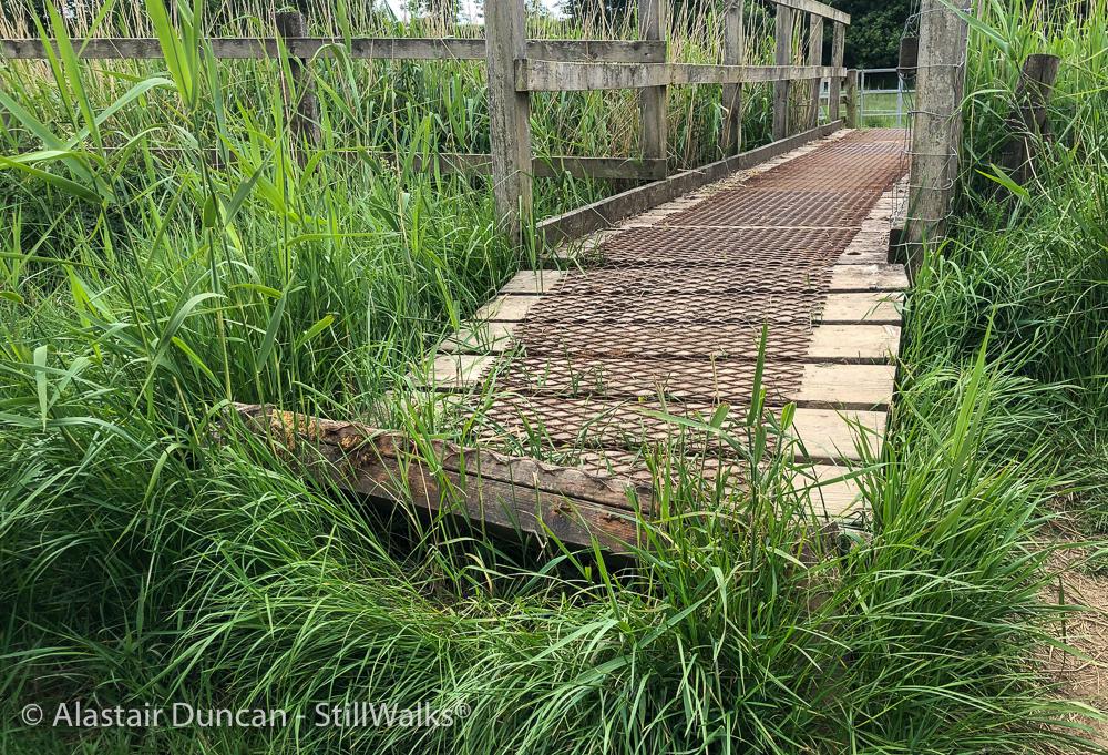 lifted foot bridge