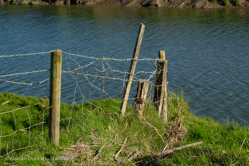 There was a crooked fence