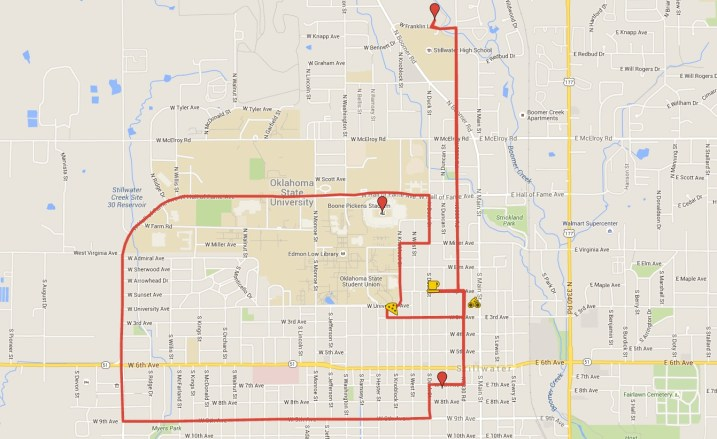 Bicyle Tour planned and mapped by MyCityBikes.org with assistance from Cooper's Bicycle Shop.