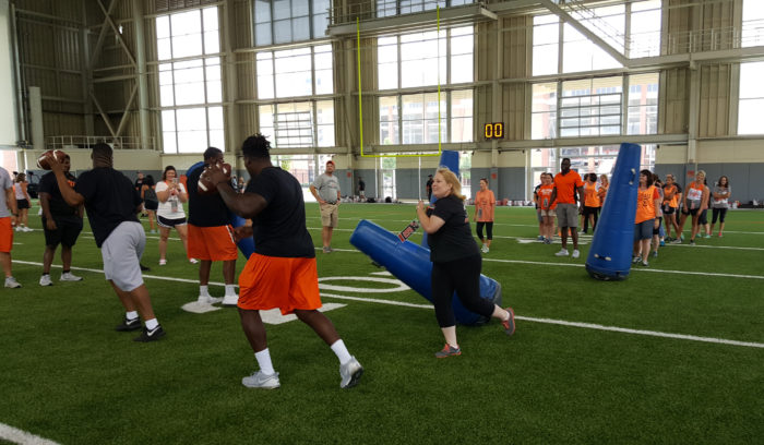 Cowboy Football 101 includes a 45 minute workout with the coaches and players.