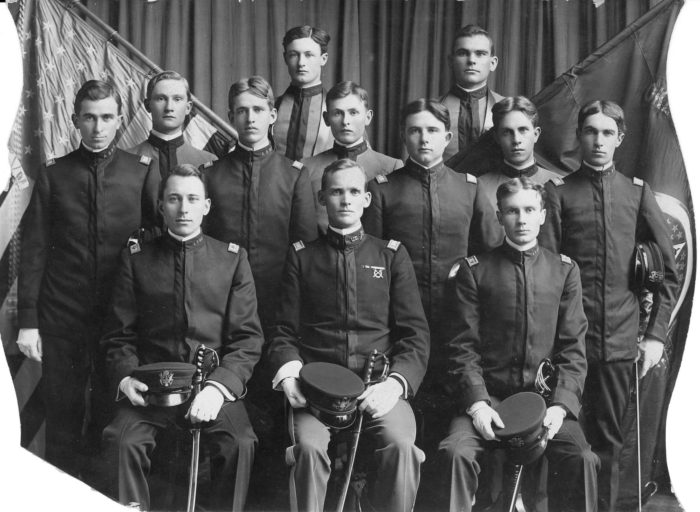 OSU ROTC's first commissioned corps of cadets in 1896. Courtesy OSU Special Collections and University Archives