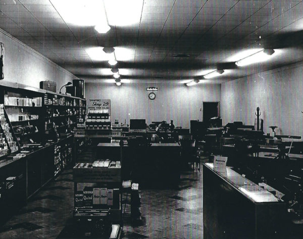 """Fenton's originally opened as """"Peerless Office Supply"""" in 1941 at 711 S. Main before moving to its second, larger location at 809 S. Main."""