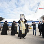 "The People of Kursk, Russia Bid Farewell to the Icon of the Mother of God ""of the Sign"""