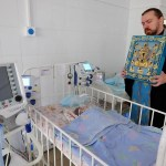 Kursk Root Icon Visits the Sick in Kursk, Russia