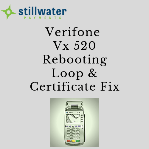 Verifone Vx520 suck rebooting