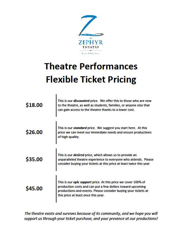 Theatre Performances Flexible Ticket Pricing