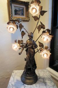 Vintage Spelter Bronze Finish Lamp after Louis Auguste ...