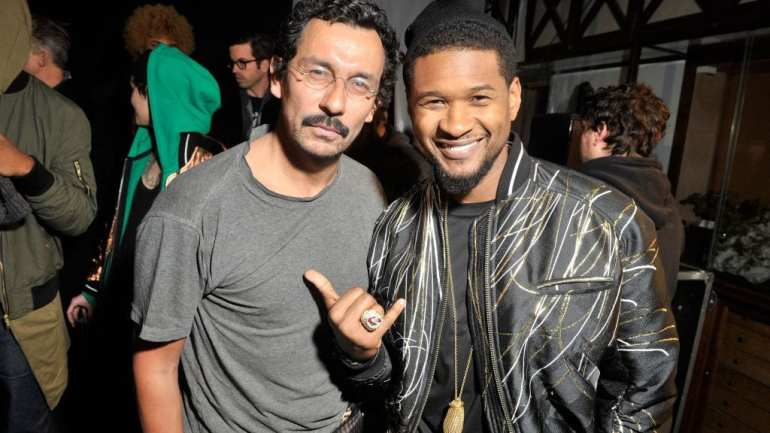 Usher Wears Haider Ackermann Jacket at Paris Fashion Week