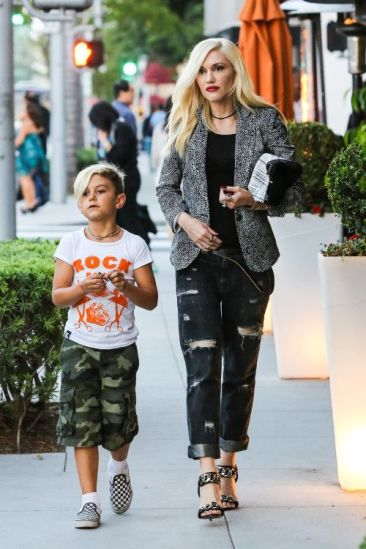 gwen stefni with kingston.