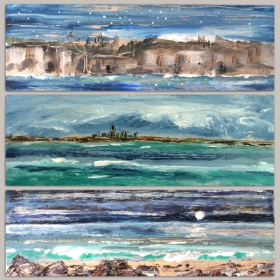 Fine Art Seascapes on Faux Driftwood Boards