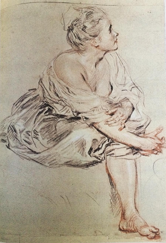 Watteau drawing