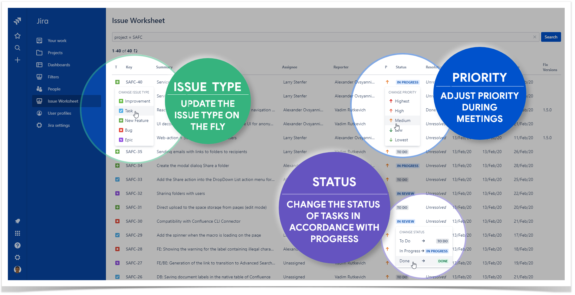 Issue Worksheet For Jira Cloud Released