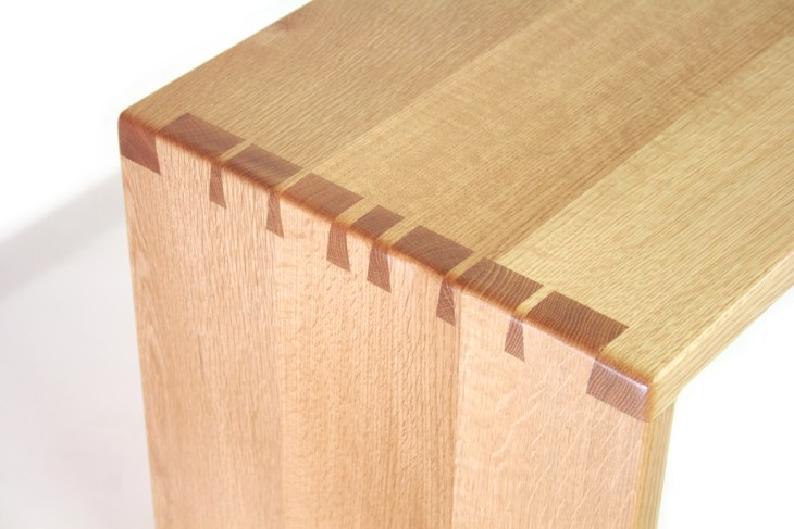Dining Table Bench - Dovetail Details in White Oak