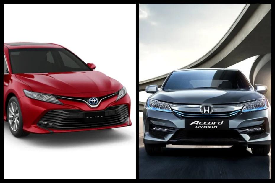 all new camry vs accord usa spec comparison 2019 toyota hybrid honda