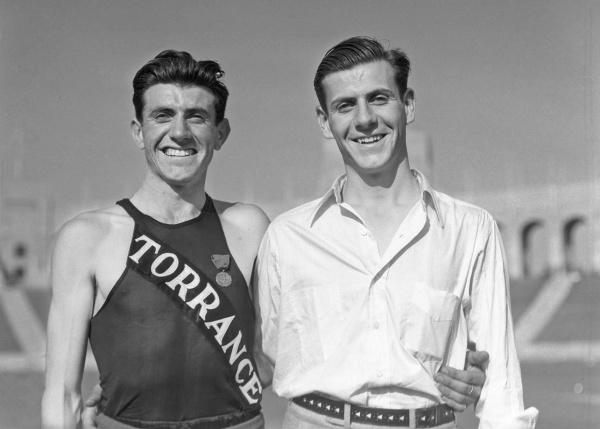 Louie Zamperini (left) and his brother Pete