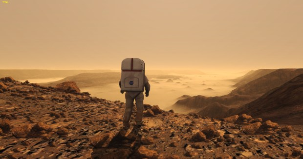 The Martian man on Mars Stimulated Boredom