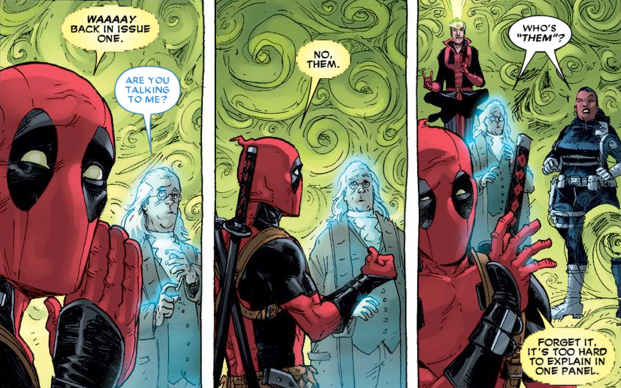 deadpool breaking fourth wall stimulated boredom