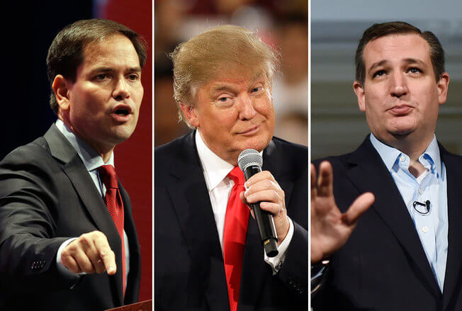 2016 election donald trump ted cruz marco rubio stimulated boredom