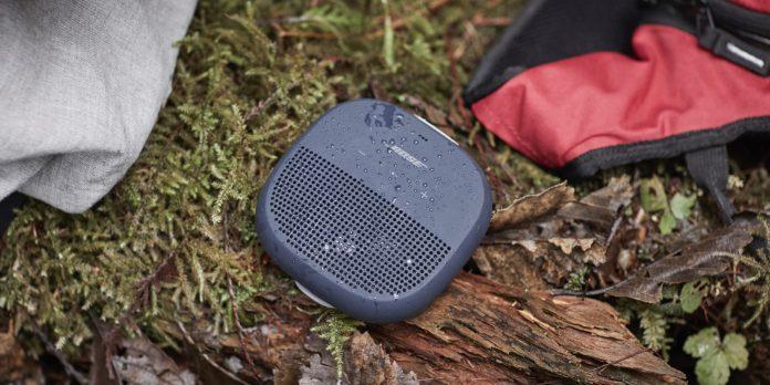 Bose Soundlink Micro Bluetooth Speaker in Midnight Blue.