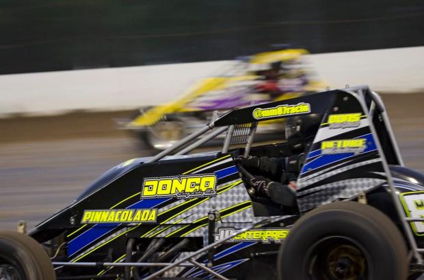 Wingless sprints at Granite City Speedway, Minnesota. Photography -Dan McCreight