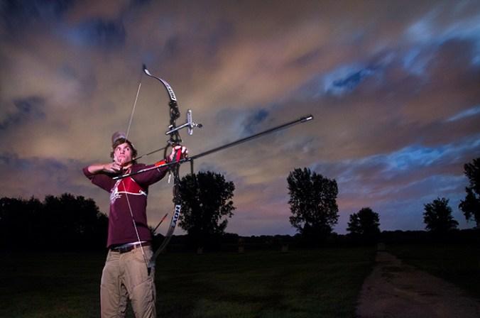 Nate Illuminated using a flashlight. Photographer -Dan McCreight