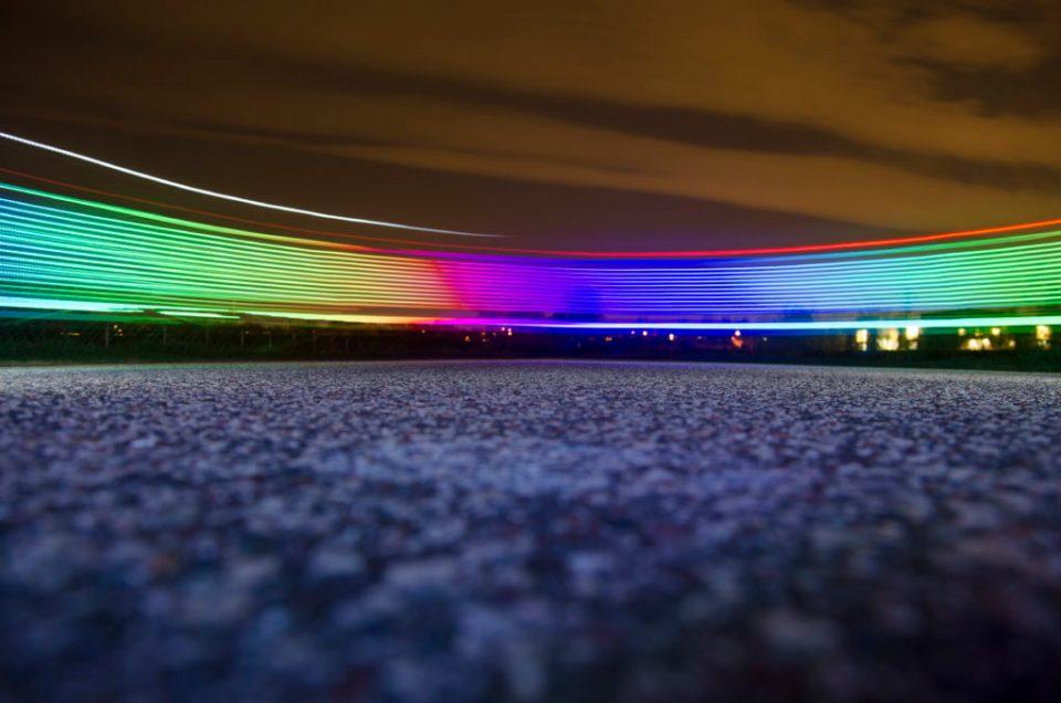 Light Painting LED Light Bike