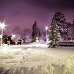 Bilder på första snön 2016