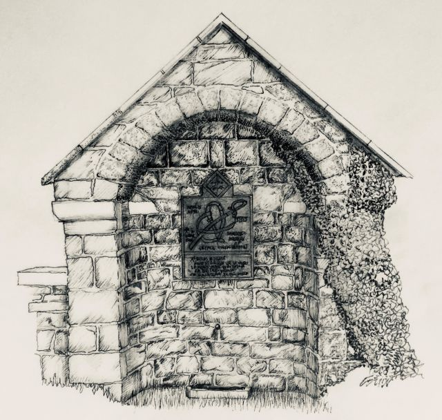 Drawing of the drinking fountain