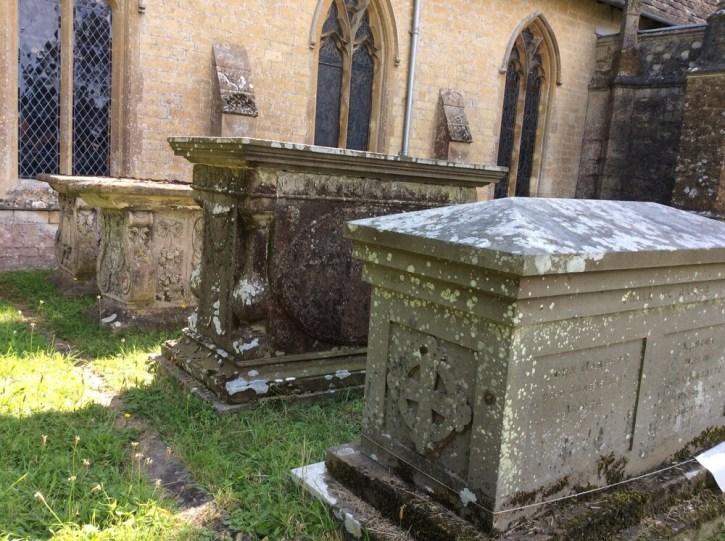 Row of Mabbett family tombs