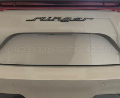 carbon fiber kia stinger text emblem for hatch
