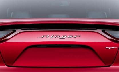 kia stinger badge rear