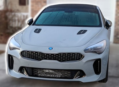 kia motors badge on stinger