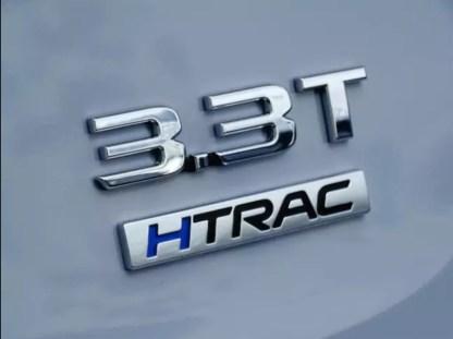 3.3T HTRAC v6 turbo badge on car