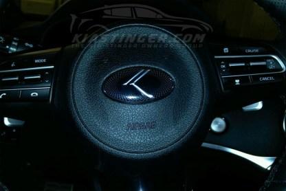 vintage k on steering wheel
