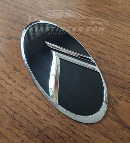 loden chrome vintage k badge