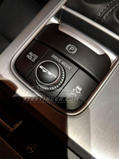 kia stinger gt drive mode dial decal