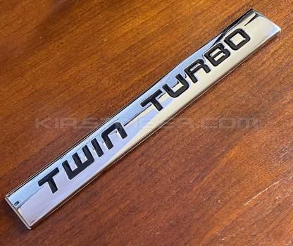 black twin turbo badge