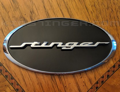 oval stinger emblem badge for kia stinger