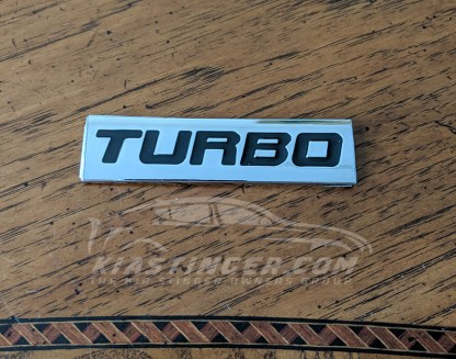 kia stinger turbo badge