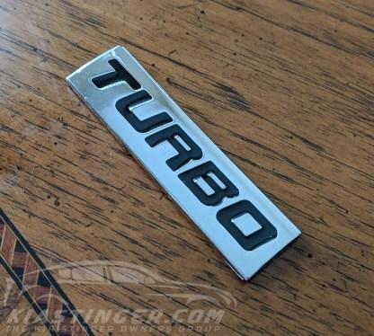 kia stinger turbo badge