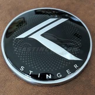 kia stinger round vintage k emblem badge