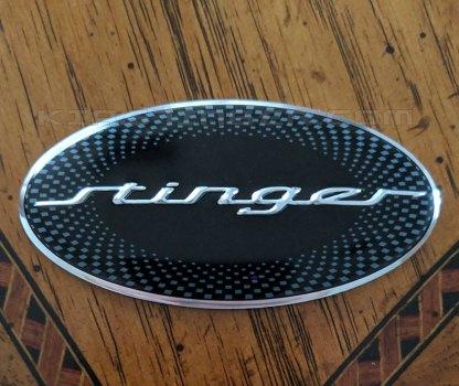 stinger steering wheel emblem for the kia stinger