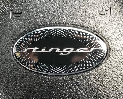 stinger steering wheel emblem badge for kia stinger