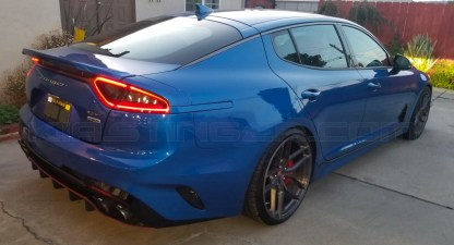 micro blue painted side rear reflector for kia stinger