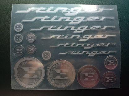 kia stinger metal stickers decals