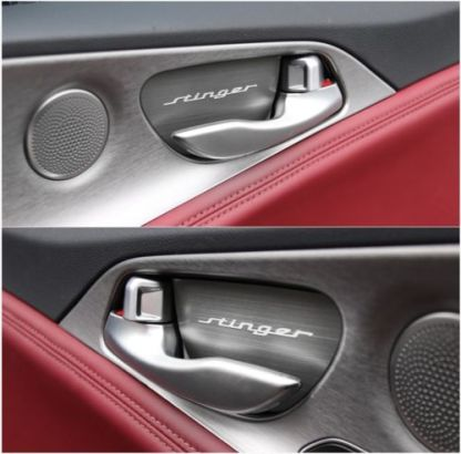 kia stinger aluminum door catch plates