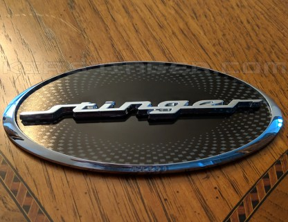 oval stinger badge emblem for kia stinger