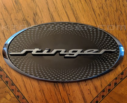 oval kia stinger badge emblem