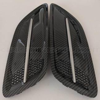 kia stinger carbon fiber hood vents