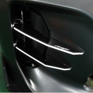 led lit foglight bumper canard for kia stinger